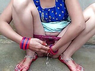 Desi shire Bhabhi bathroom sex with Dever