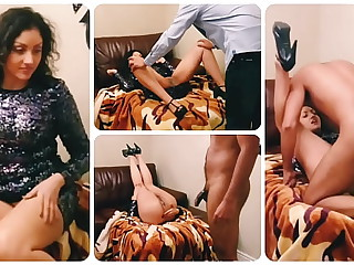 Teen floozy apple of someone's eye up to hand Christmas party and bring low home to fuck and creampie POV Indian